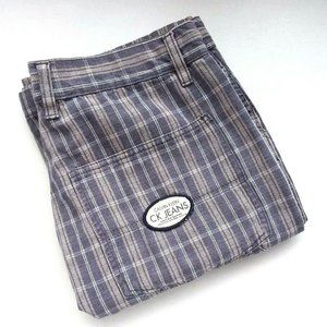Calvin Klein Drawstring Plaid Carpenter Shorts